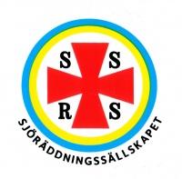 Svenska sjöräddningssällskapets emblem med länk till deras webbplats, skänk en gåva!